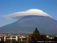 笠雲と富士