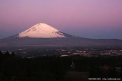 夜明けの富士