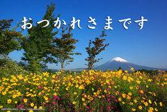 おつかれさまです(春景富士)